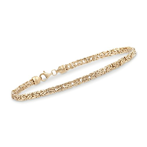 Ross-Simons 4mm 14kt Yellow Gold Byzantine Bracelet
