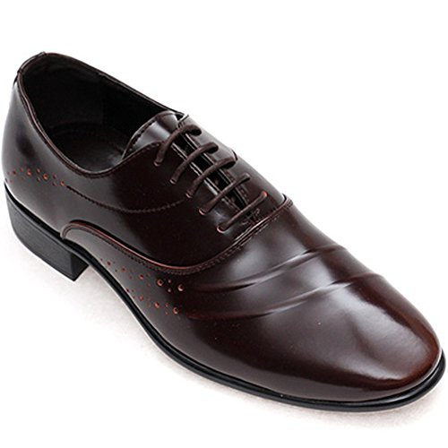 New Mooda Stylish Trend Leather Casual Oxford Formal Men Fashion Dress Shoes Brown D3pNyl0esL