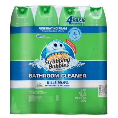 (Scrubbing Bubbles Disinfectant Bathroom Cleaner, Fresh Clean Scent, 20 Ounce, (Pack of 4))