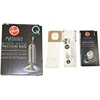 16 HOOVER PLATINUM HEPA COMBO, 8 Q BAGS AND 8 I BAGS