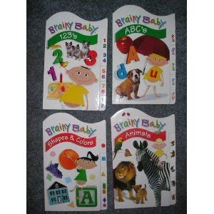 Brainy Baby Board Book Set of 4 ABCs,123s,