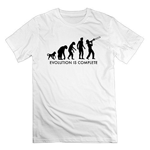 Thelover8 Men's Evolution Trompet Complete T-Shirt - 3X White