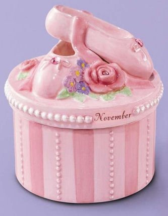 (A Time to Dance Classics November Ballerina Trinket Box by Russ Berrie)