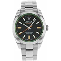 Rolex Milgauss automatic-self-wind mens Watch 116400V bko (Certified Pre-owned)