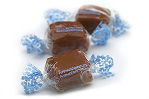 Soft Caramels Individually Wrapped Candy - Gluten Free Salted Caramels, Thank You Food Gifts (5lbs Bulk)