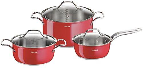Edelstahl Intuition Colors 6-teiliges Topf-Set, für alle Herdarten geeignet, Rot