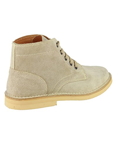 Amblers Mens Desert Lace Suede Fabric Lined Leather Boot Brown Brown