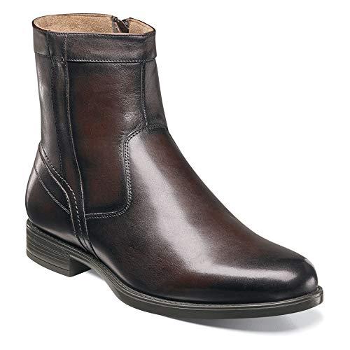 Florsheim Men's Midtown Plain Toe Zip Boot Brown Smooth 10.5 D US
