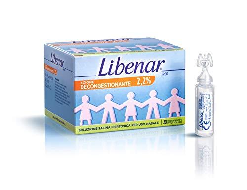 Liberar azione decongestionante 2,2%, soluzione salina ipertonica per uso nasale, 30 flaconcini monouso 1
