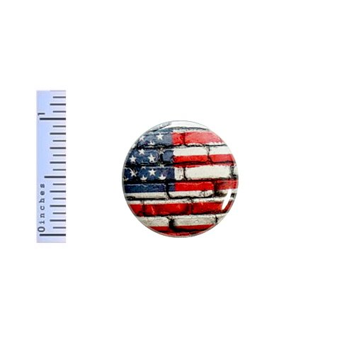 - Flag Button U.S. American Military Pride Pin 4th of July Memorial Freedom Strong Strength Solidarity Jacket Pin 1