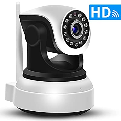SDETER IP Camera Wireless Wifi 720P HD - Plug/Play,Pan/Tilt,Night Vision,Home Surveillance Security Alarm System (US Edition) from Shenzhen Anba Technology CO.,LTD
