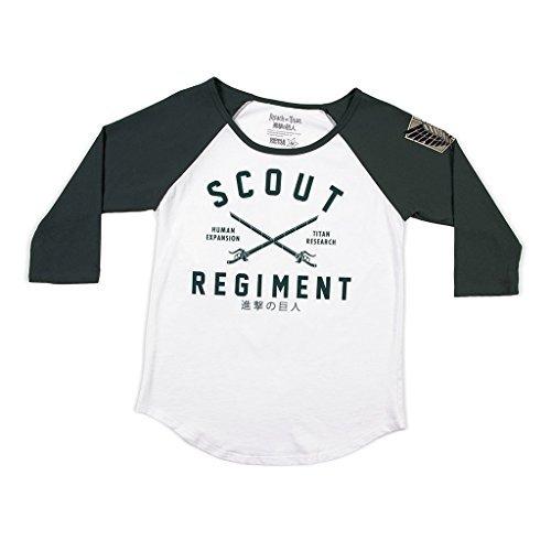 Attack on Titan Scount Regiment 3/4 Sleeve Baseball Style(Raglan) Shirt - Loot Crate Exclusive -