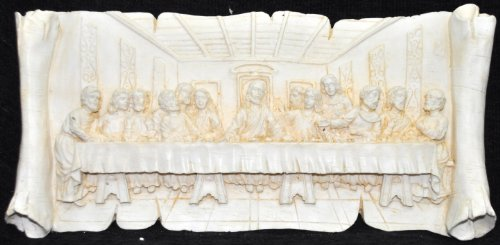 Trusted Seller Best 2 in 1 Jesus Last Supper Statue Wall Hanging Handmade Carved Handicraft Marble Home Decor Art From India ()