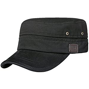 Men's Cotton Flat Top Peaked Baseball Twill Army Millitary Corps Hat Cap Visor