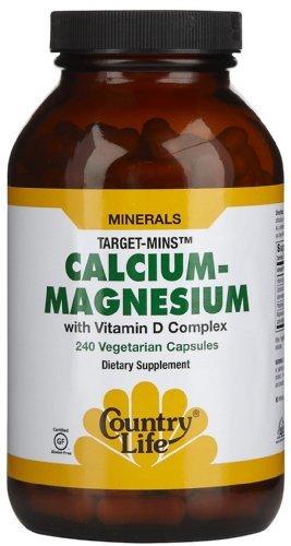 Деревенская жизнь, магния и кальция, ж / витамин D комплекс, 240 Veggie Caps