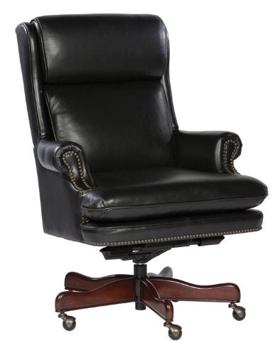 Leather Executive Tilt Swivel Chair by Hekman - 2 Place Copley