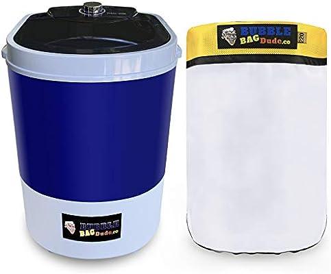 BUBBLEBAGDUDE Bubble Bags Machine 5 Gallon Small Mini Compact Washer Extracting Mini Washing Machine with 220 micron Zipper Bag Herbal Extractor