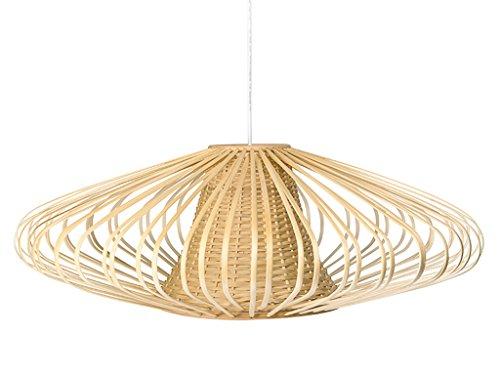 KOUBOO 1050077 Handwoven Bamboori Discus Pendant Lamp, 18