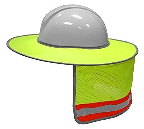 ML Kishigo 2873-6 Full Brim Sun Shield Color Lime (3 Pack) Include Free Sticker (American Flag)