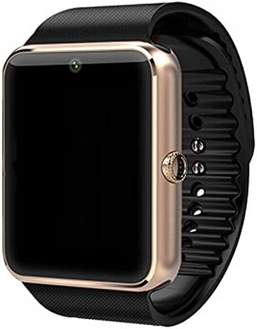 GT08 Bluetooth Smart Watch for Android Phones Smart Watch with SIM Card Slot,Call,Massage, Camera Electronics for Health,Sweatproof Silver
