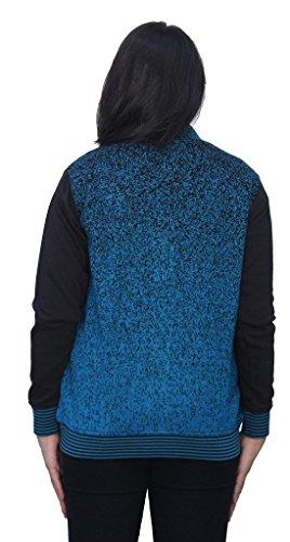 Romano - Sweat-shirt - À Rayures - Col Chemise Classique - Manches Longues - Femme Bleu Bleu