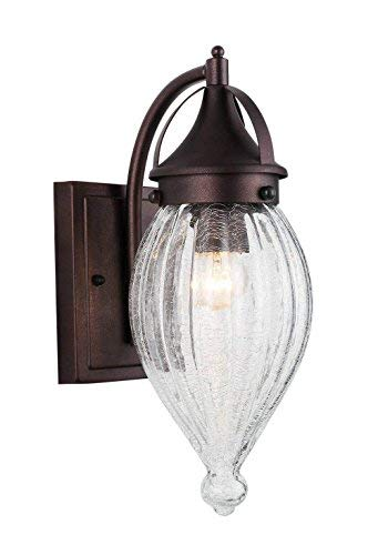 RUNNLY Outdoor Wall Sconce Fixture Exterior Porch Wall Light, Oil Rubbed Bronze [並行輸入品] B07R4J3RVG