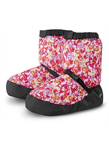Bloch Dance Women's Printed Warm Up Boot Slipper, Hearts, XS Medium ()