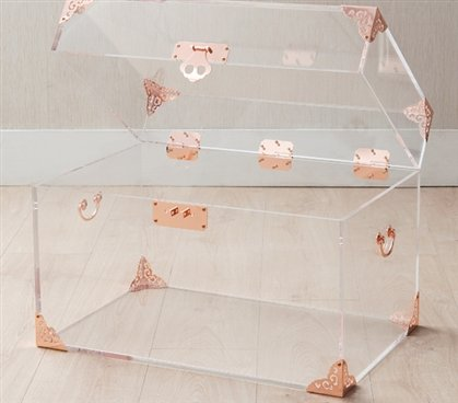 Ciao Bella Acrylic Trunk - Rose Gold by Ciao Bella