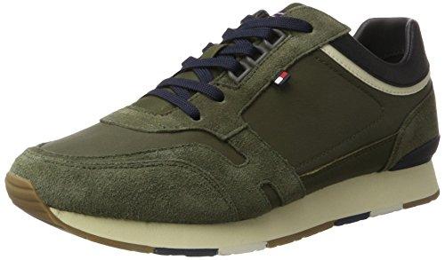 Tommy Hilfiger L2285eeds 1 C2, Zapatillas para Hombre Verde (Dusty Olive)