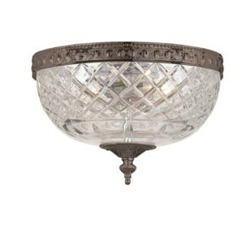 Crystorama 117-8-EB Crystal Two Light Ceiling Mounts from Richmond collection in Bronze/Darkfinish,