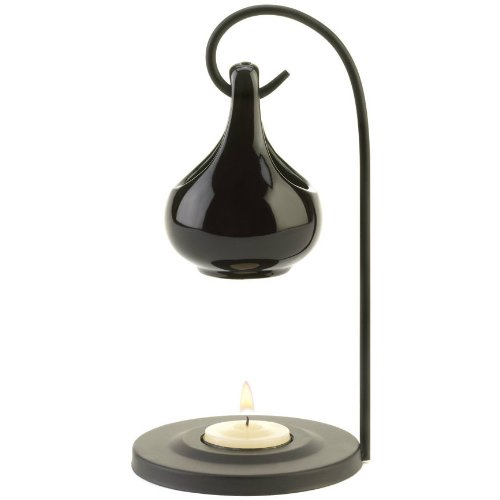 Black Porcelain Tear Drop Oil Warmer-2pack
