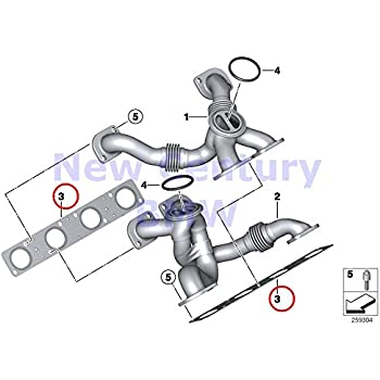Amazon Com 2 X Bmw Genuine Exhaust Manifold Gasket X5 M X6 M M6 M6