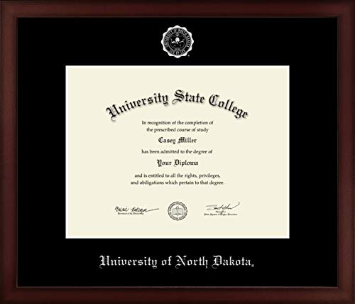 University of North Dakota - Officially Licensed - Silver Embossed Diploma Frame - Diploma Size 11