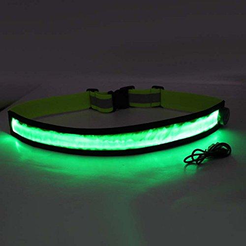 Cutogain Homme Femme LED Lumineux Ceinture réglable Rechargeable USB  Ceintures pour Course Marche de Cyclisme de Nuit, Green  Amazon.fr  Sports  et Loisirs 12a83ff39e7