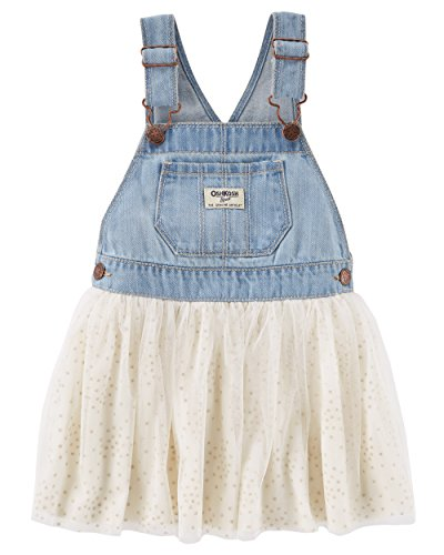 Baby Girl Overalls - Osh Kosh Baby Girls' World's Best Overalls, Darla-Cream, 12 Months