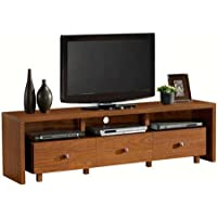 Techni Mobili Palma TV Stand with 3 Drawers, for TVs up to 70, Walnut Finishes