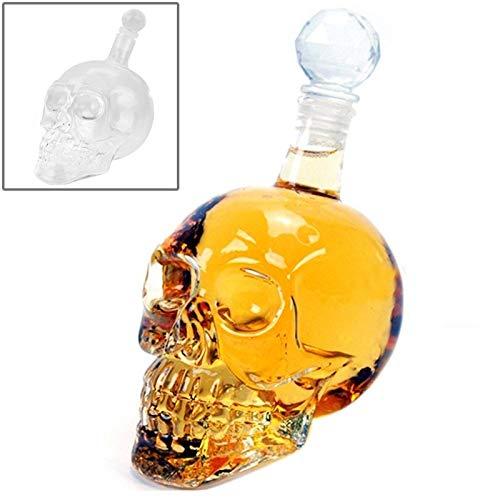 - VAXT 350ML, Aim Crystal Glass Skull Bottle for Vodka & Whiskey & Beer Liqueur & Red Wine & Other Beverage (SKU : S-hc-0495c)