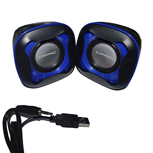 TopePop Portable Mini USB Powered Computer Speaker Stereo Bass Multimedia Speaker for Notebook Laptop PC Desktop Tablet ()
