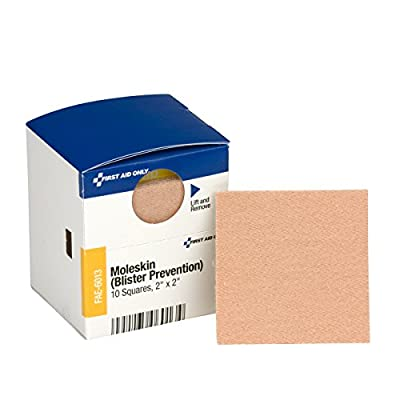 First Aid Only Pac-Kit Moleskin Blister Prevention, 10 Count by First Aid Only