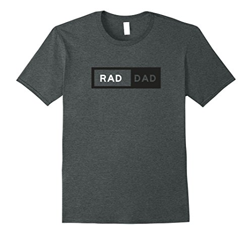 Mens Rad Dad T-Shirt cool funny Father's Day gift for dad XL Dark Heather