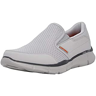 Skechers Men's Equalizer Persistent Slip-On Sneaker, Light Grey, 12 M US