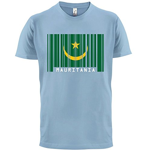 Mauritania / Mauretanien Barcode Flagge - Herren T-Shirt - Himmelblau - XXL