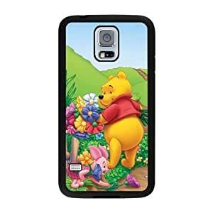 Generic Fashion Hard Back Case Cover Fit for Samsung Galaxy S5 Cell Phone Case black Winnie the pooh TUB-1565018