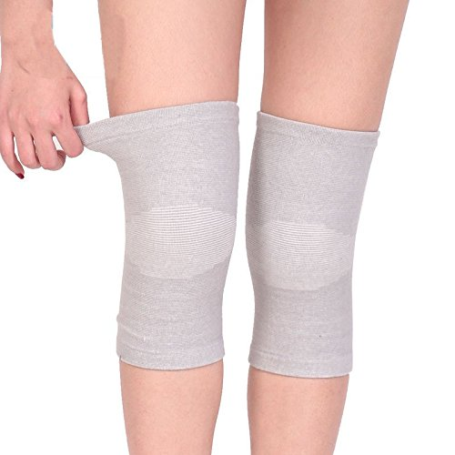 AODEW 1 Pair Stretchy Thermal Knee Brace Leg Warmers Sleeves Winter Warm Cashmere Wool Knee Pads Support Pads for Outdoor Sports Ski Running Cycling Arthritis Tendonitis