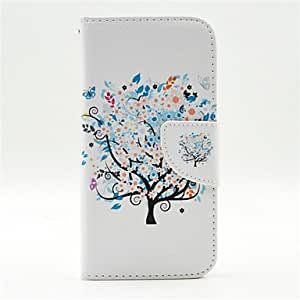 HJZ Small Colorful Blooms Pattern PU Leather Full Body Cases With Card Slot for Galaxy S6 edge