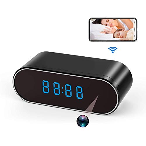 Spy Camera WiFi Hidden Cameras Clock HD 1080P Wireless Nanny Cam with Night Vision,Motion Detection,140 Wide Angle for Office/Home Security
