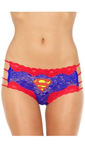 Superman Lace String Hipster Panty (Small)