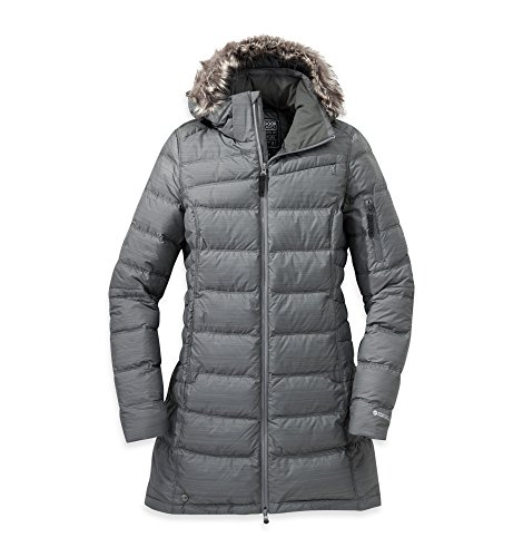 Outdoor Research Women's Fernie Down Parka, Pewter, M (Combo Pewter)