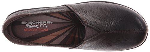 Skechers Mocassino Slip-on Da Donna Washington Seattle Marrone Scuro