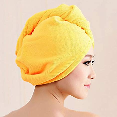 Goldyqin Superfine Fiber Bath Hair Dry Hat Shower Cap Soft Strong Water Absorbing Quick Dry Head Towel Cap Hat For Bathing White